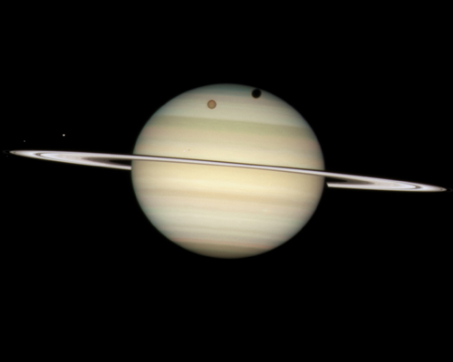 Moons and Saturn.